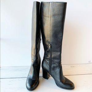 VIA SPIGA Caleb Leather Black Boots